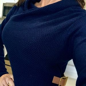 Venus Collared High Neck Knit long sleeve sweater
